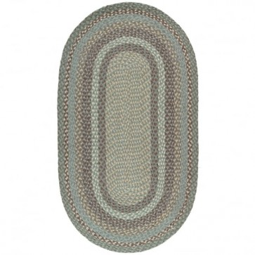 Braided Rug Seaspray Oval