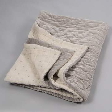 Niki Jones Throw and Quilt Oyster