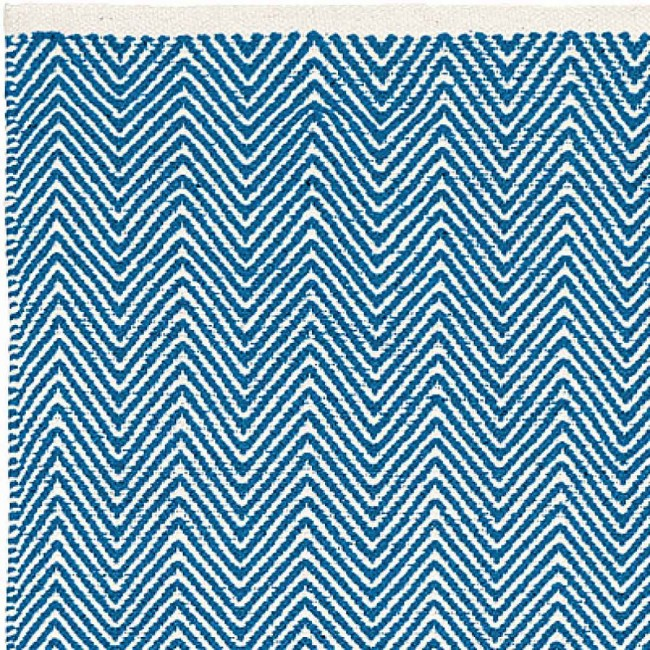 Liv Rug Cotton Zigzag Denim