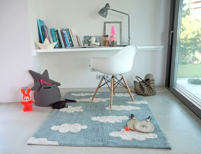 Lorena Canals Washable Children S Rug Clouds Blue Heugah Interiors