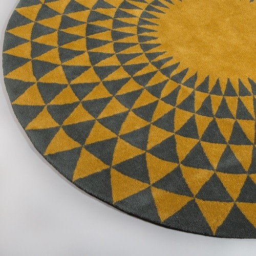 Niki Jones Rug Concentric Chartreuse Zoom