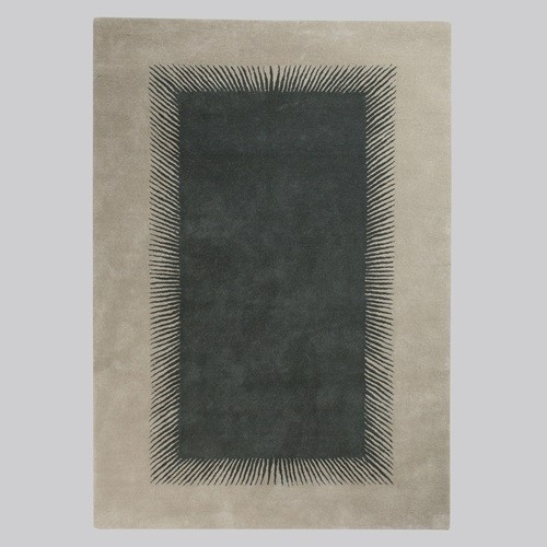 Niki Jones Rug Optical Ash Grey