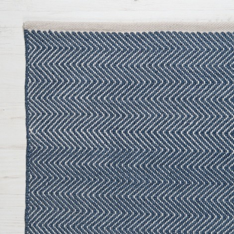 Weaver Green Rug For Kitchens Herringbone Navy Heugah