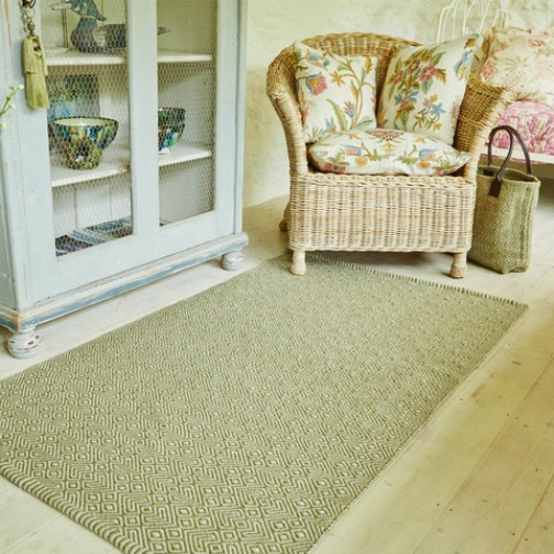 Weaver Green Rug For Kitchens & Bathrooms Provence Lichen