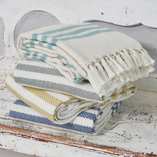 Weaver Green Throws Indoor Outdoor Stripe Heugah Interiors
