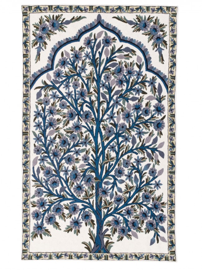 Hand Stitched Rug William Morris Tree Of Life Green