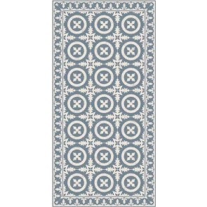 Vinyl Rug and Runner - Crusto Blue/Grey