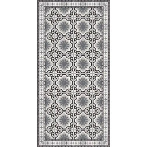 Vinyl Rug - Dream Black White Runner