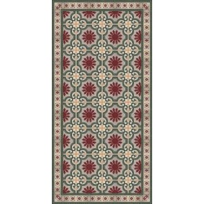Vinyl Rug - Dream Grey Red Runner