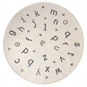 AFK Children's Rug | Alphabet Beige