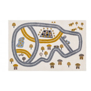 Children's Rug | Race Track Multi