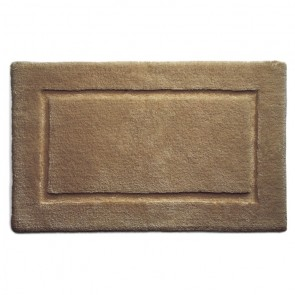 Bamboo Bath Mat Border Latte