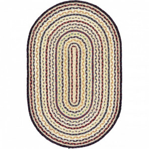 Braided Rug | Fairisle Oval