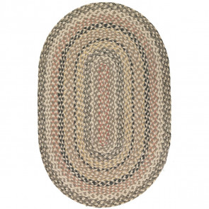 Braided Rug Granite Oval