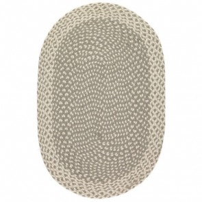 Braided Rug Grey Oval