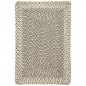 Braided Rug Grey Rectangle