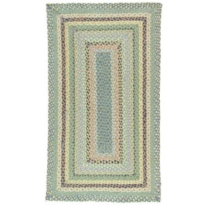 Braided Rug Mint Rectangle