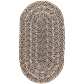 Braided Rug Pebble Pale Oval