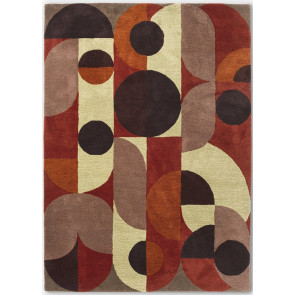 Brink & Campman Rug | Decor Cosmo Red Pale Green 095203