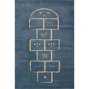 Children's Rug Hopscotch Blue