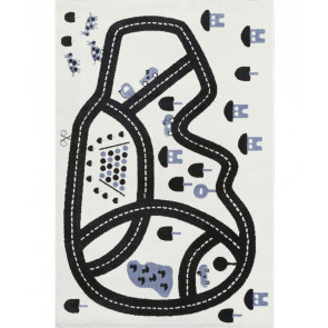 Children's Rug Race Track Blue