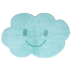 Washable Children's Rug - Nimbus Blue