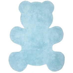 Washable Children's Rug - Little Teddy Blue