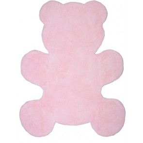 Washable Children's Rug - Little Teddy Pink