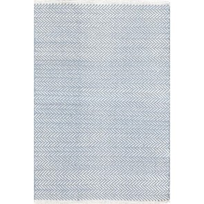 Dash and Albert Herringbone Swedish Blue