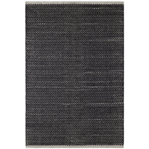 Indoor Outdoor Rug Herringbone Black