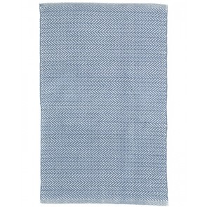 Indoor Outdoor Rug Herringbone Denim