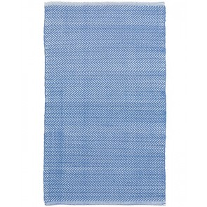 Indoor Outdoor Rug Herringbone French Blue
