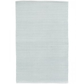 Indoor Outdoor Rug Herringbone Light Blue