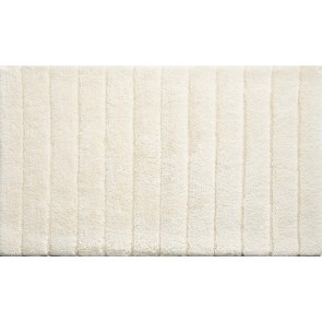 Bamboo Bath Mat Stripe Cream