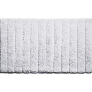 Bamboo Bath Mat Lined White
