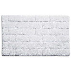 Bamboo Bath Mat Brick White