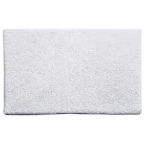 Bamboo Bath Mat Plain White