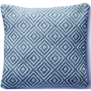 Hug Rug Woven Cushion | Diamond Denim