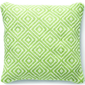 Hug Rug Woven Cushion | Diamond Green