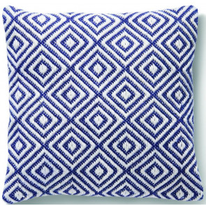 Hug Rug Woven Cushion | Diamond Navy