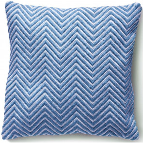 Hug Rug Woven Cushion | Herringbone Denim Blue