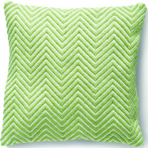 Hug Rug Woven Cushion | Herringbone Green