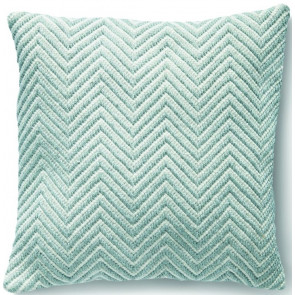 Hug Rug Woven Cushion | Herringbone Sky Grey