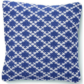 Hug Rug Woven Cushion | Trellis Navy Blue