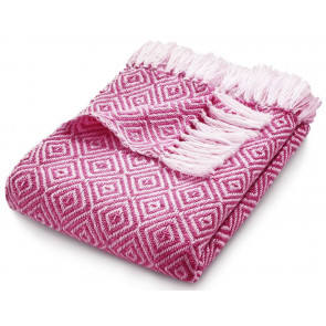 Hug Rug Woven Throw Diamond Coral Pink