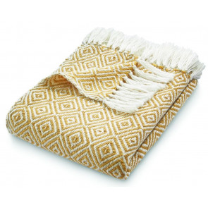 Hug Rug Woven Throw Diamond Gold