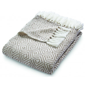 Hug Rug Woven Throw Diamond Natural