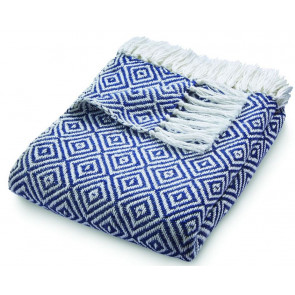 Hug Rug Woven Throw Diamond Navy