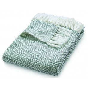 Hug Rug Woven Throw Diamond Sky Grey
