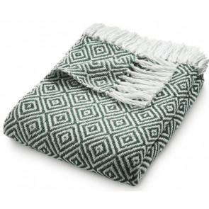 Hug Rug Woven Throw Diamond Warm Grey